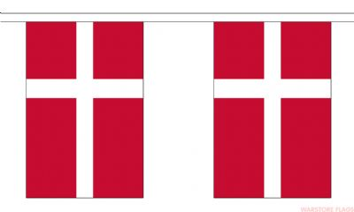 DENMARK BUNTING - 3 METRES 10 FLAGS